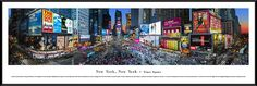 Times Square Panoramic Picture Framed