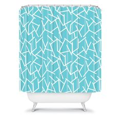 Holli Zollinger Ocean Shower Curtain #teal #bath #bathroom