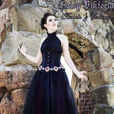 daisyviktoria:  Beautiful @misssfoggg modeling a dark princess look! #gothic #fashion #costume #corset #underbust #tulle #model #castle #photoshoot #goth #victorian #princess #queen #dark #evilqueen #ballgown #instagood #beautiful