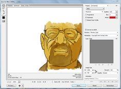 Walter White work in progress. Time to #vector. Gonna be sweet. #breakingbad #walterwhite #illustrator