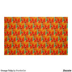 Orange Tulip Fabric