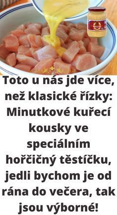 Czech Recipes, Apple Cider, Food Art, Good Food, Food And Drink, Low Carb, Cooking Recipes, Menu, Chicken
