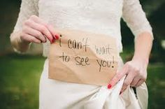 We love this idea for the bride to send the groom - so cute #wedding #bride #groom