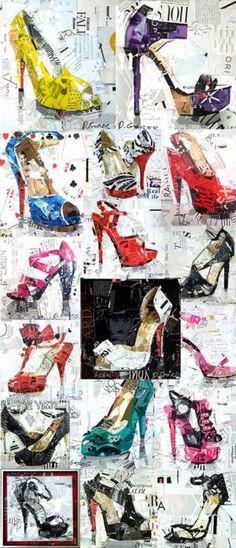 Derek Gores - high heel collages