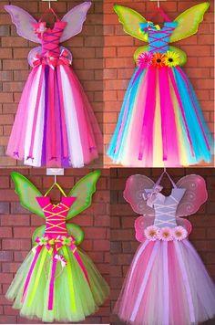 Cute little girl tutu hair bow holders!!  WOW the colors!!