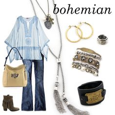 Bohemian flare includes lonts of fringe and an #IOarmparty, of course! | Accessories by Initial Outfitters