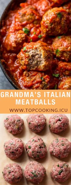 """These are the BEST Italian Meatballs! My Italian grandma's formula, the word .""These are the BEST Italian Meatballs! My Italian grandma's formula, the word impeccable doesn't start to cover it. You can't be distraught I World's Best Meatloaf Recipe, Meatloaf Recipes, Meatball Recipes, Meat Recipes, Cooking Recipes, Healthy Recipes, Chicken Recipes, Easy Meatball Recipe, Rabbit Recipes"