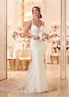 Rabatt Fabulous Tulle Schatz-Ausschnitt-Nixe-Hochzeits-Kleider mit wulstigem SpitzeAppliques bei Dressilyme.com bekommen