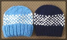 """A hat knitted from a bulky yarn could be your next quick project. If you knit a bit you could have it done in 2-3 hours. It is a basically intro to the ""fair isle"" knitting in the round. Free pattern includes also a video tutorial."""