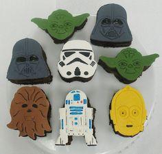 Star Wars mini cakes by whimsical.whisk, via Flickr