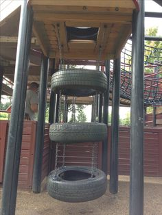 Tire Ladder for Swingset or Treehouse - Waterfront Park, Louisville