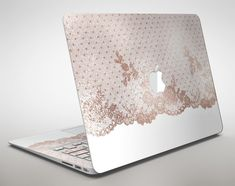 Rose Gold Lace Pattern 6  Apple MacBook Air or Pro by TheSkinDudes
