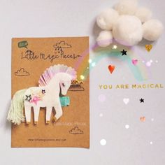I Believe in Unicorns Unicorn Glitter Hair by LittleMagicPieces