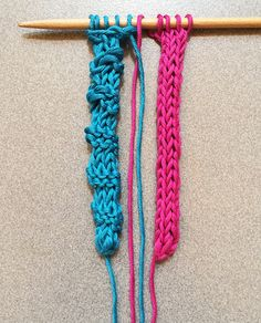Learn how to knit a cord with knitting needles – icord with knitting needles | Blog