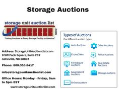 Storage Unit Auction List is a national directory of auctions including Storage Auctions Auto Auctions  sc 1 st  Pinterest & New Storage Unit Auction List Feature Update   Storage Auction News ...