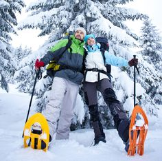 Family-friendly snowshoeing trails