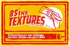 85 High-Quality Ink Textures from Vintage Voyage Design - only $5! - MightyDeals