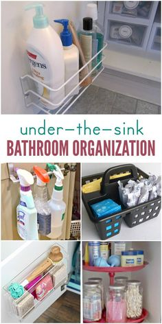 Are you running out of places to store things in your bathroom? Do you have a super tiny bathroom with almost no storage space? We're here to help! These under the bathroom sink storage ideas are genius! Even if you have the tiniest little cabinet in your bathroom, you'll find lots of useful tips for making the most of your storage space.