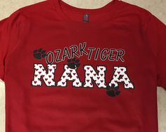 Ozark Tigers Nana custom shirt