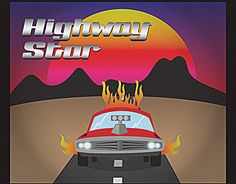 """Check out new work on my @Behance portfolio: """"Highway Star 80's"""" http://be.net/gallery/54630731/Highway-Star-80s"""