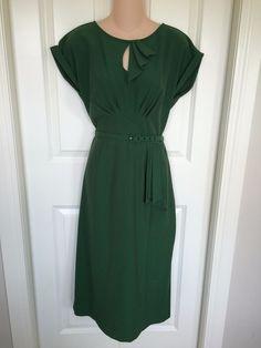 Stop Staring XL Emerald Green Dress Tea Wiggle 1950's Pinup Retro Mod | eBay