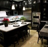[ Black White Kitchen Designs Ideas Photos Pictures Kitchens Traditional  Dark Wood Kitchens Cherry Color ]   Best Free Home Design Idea U0026 Inspiration