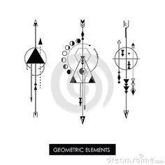 30 Ideas for tattoo geometric compass ink - Pfeil Tattoo Geometric Compass, Geometric Arrow, Geometric Drawing, Clever Tattoos, Unique Tattoos, Small Tattoos, Body Art Tattoos, New Tattoos, Signes Zodiac