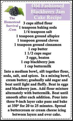 Old Fashioned Blackberry Jam Cake Recipe - Homesteading & Baking - The Homestead Survival