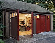 A workshop is possibly the most common alternative use of an old garage. Fine Woodworking art director Michael Pekovichs total garage shop makeover is a prime example. Garage Studio, Garage Shop, Garage Workshop, Workshop Ideas, Woodworking Shop Layout, Fine Woodworking, Woodworking Workshop, Woodworking Garage, Woodworking Crafts