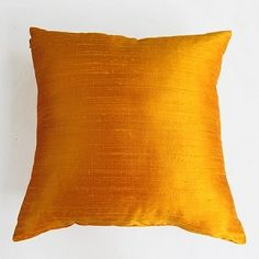 golden yellow pillow and cushion cover