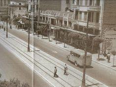 Grèce : Bus à Egnatia dans les années 1950.   o10b-001