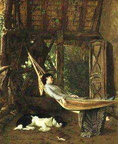 Lilly Millet in a Hammock - Francis David Millet - (American: Sleeping Women, Art Ancien, Dark Drawings, Dream Art, Global Art, Art Market, American Artists, Art Images, Light In The Dark