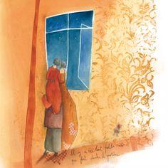 """Anne-Sophie Rutsaert carte postale carrée (14 cm) """"Il y a ces tout petits riens..."""""""