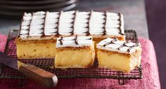 There are few more amazing Australian dishes than a great vanilla slice. Crisp pastry, silky custard and attractive icing.