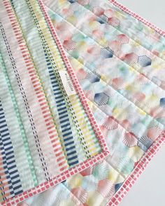 Modern Wholecloth Baby Quilt-Modern Baby Quilt-Baby Quilt Blanket-Handmade Baby Quilt by WildLittles on Etsy