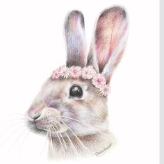 Spring Rabbit Art Print by Olivia Bezett