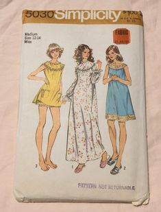 Simplicity 5030 Vintage 70's Pajamas by TinySparrowTreasures