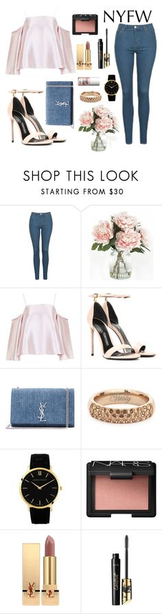 """""""#NYFW // """" by ashleeyneeo ❤ liked on Polyvore featuring Topshop, Home Decorators Collection, Tom Ford, Yves Saint Laurent, Vitaly, Larsson & Jennings, NARS Cosmetics, tarte, Benefit and NYFW"""