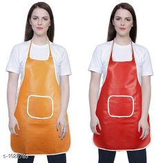 Aprons Classic Aprons ( Pack Of 2)  *Material * Apron - PVC  *Size (L x W)* Apron - 18  in x 28 in  *Description* It Has 2 Piece Of Kitchen Apron  *Pattern* Solid  *Sizes Available* Free Size *   Catalog Rating: ★4.2 (216)  Catalog Name: Hiba Lovely Aprons Combo Vol 1 CatalogID_123448 C129-SC1633 Code: 142-1022765-