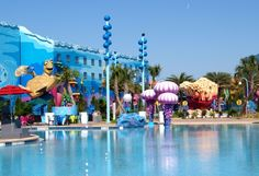 The largest pool of all the Disney resorts at Disney's Art of Animation Resort