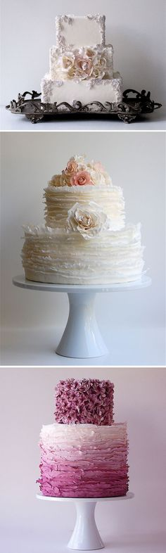 """""""Couture"""" Cakes Love the top one!!!"""