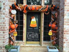 Hi Everyone!   Well, here it finally is...my Halloween Candy Doorscape! I just love decorating for Halloween!!        I actually already ha...