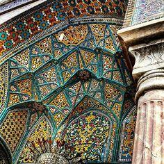 Ceiling of Shah-abdol-azim in Tehran,Iran ~300 years old Photo by @m1rasoulifard  تزئینات سقف حرم شاه عبدالعظیم  مکان: ری ،تهران دوره ساخت اثر: صفویه، ایلخانی، قاجار  #iran #tehran  #iran_architecture_photography #mosque #brick #art #arc #arch #architect #architecturelovers #archilovers #architecture #desing #designer #building #classic #structure ##urban #picture #pic #photo #photograph #photographer #samsung #galaxynote4 #m1rasoulifard  #desing #designer