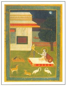 Rajasthani Paintings - Radha and Krishna, Kishangarh, circa 1750A.D., National Museum, New Delhi