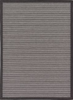 This Turkish Outdoor rug is made of Polypropylene. This rug is easy-to-clean, stain resistant, and does not shed.  Colors found in this rug include: Gray, Black, Silver. The primary color is Gray.