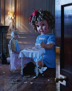 """The Terrier and Lobster: """"Like a Doll"""": Lindsey Wixson by Tim Walker for Vogue Italia"""