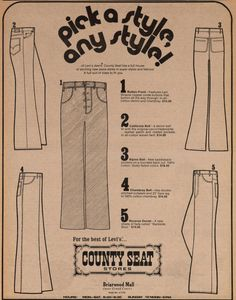 County Seat: Pick A Style, Any Style! (of Levi's)