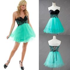 vestido de festa curto A-Line Sweetheart Short Mini Turquoise Tulle Cheap in Stock Imported Party Dresses AS1 US $92.00