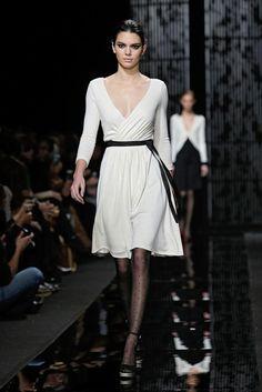 Kendall DVF white dress