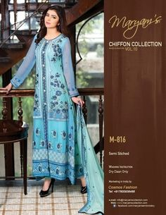 Check out this story - Maryam's chiffon collection (og) Full embroied dress with pants n embroied duppata PS: dresses r same as pic For price n further details plzz contact 9924177066 created by Farha Doctr and top similar posts, trendy products and pictures by celebrities and other users on Roposo.